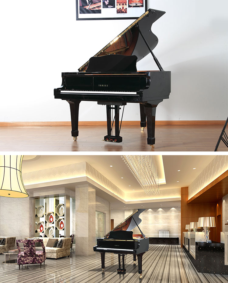 yamaha 三角钢琴 gb1k的产品实拍